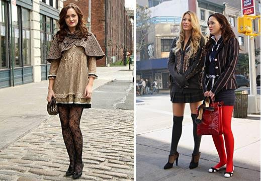 Take a cue from the girls of Gossip Girl, who wore tights best.