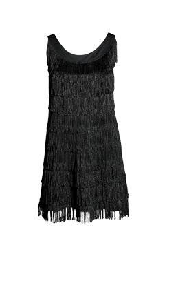 fringe-black-party-dress