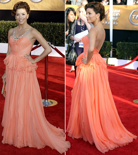eva-longoria-jenny-packham-peach-dress-2009-sag-awards