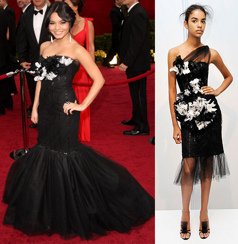 vanessa hudgens dresses 2009. vanessa-hudgens-marchesa-dress