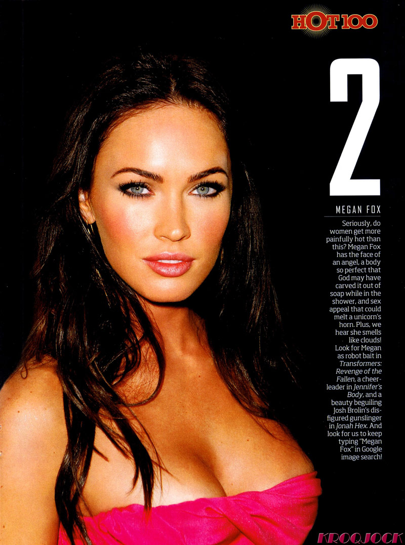 maxim top100 top 10 megan fox