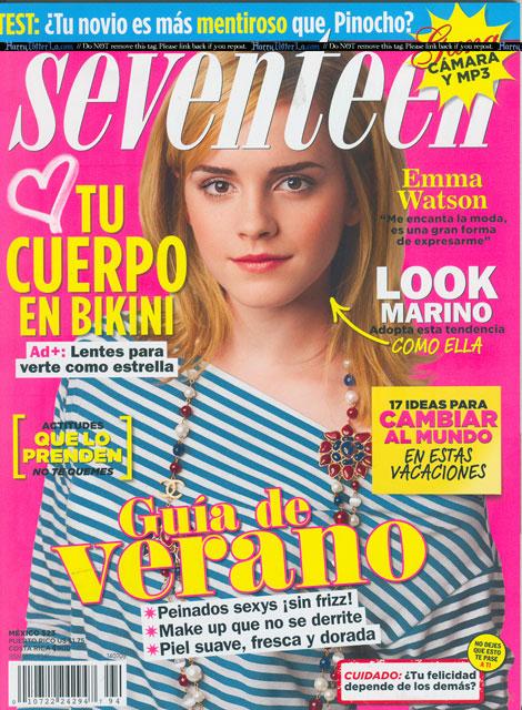 emma watson spanish seventeen july 2009 cover