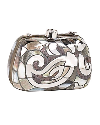 Etro metallic clutch