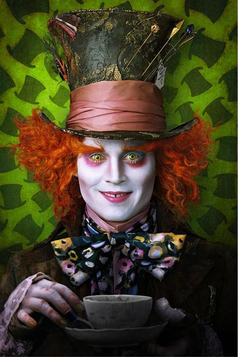 johnny depp mad hatter burton wonderland
