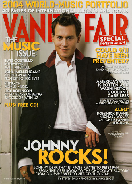 johnny depp November 2004 cover