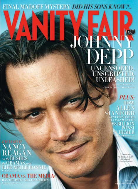 johnny depp vanity fair july 2009 cover