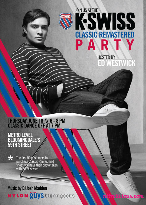 k swiss bloomies event invite ed westwick 1