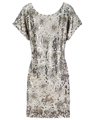 Peter Som Swarovski crystal embroidered T-shirt dress