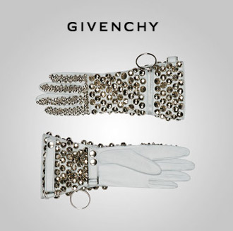 Givenchy Sky Blue gloves