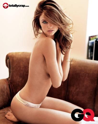 Miranda Kerr nude for GQ Magazine. January 22, 2010