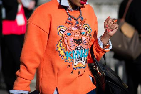 Street Style from London Fashion Week Feb 2013 tiger