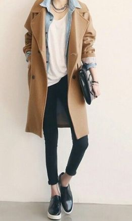 basic camel coat