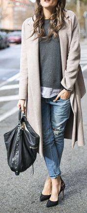 basic grey coat