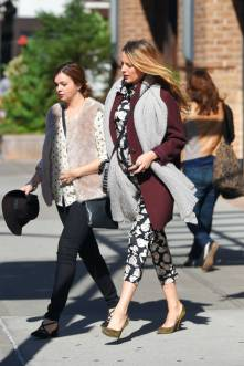 Blake Lively and Amber Tamblyn seen out in Tribeca