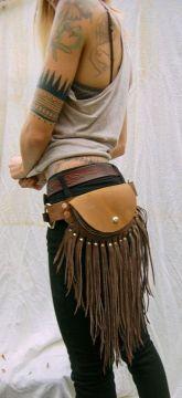 fringe belt purse