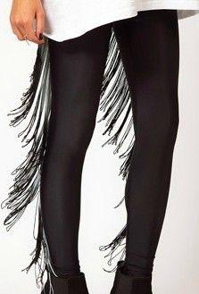 fringe leggings