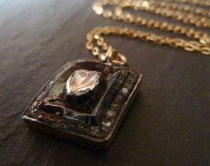 Pavé Rose Cut Diamond Necklace