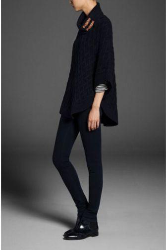 knitted cape - Massimo Duti