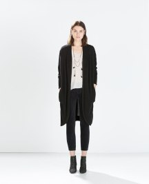 long coat dark grey zara