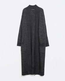 long grey coat zara