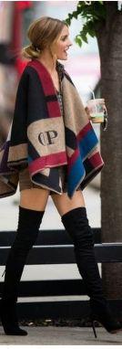 Olivia Palermo burberry cape