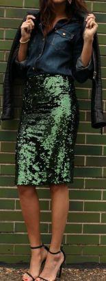 sequin skirt 7