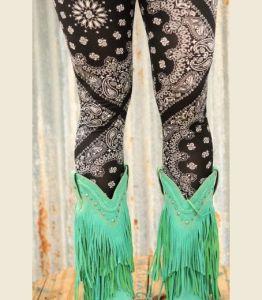 western boots and bandana leggings