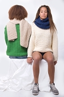 knitted sweater and scarf