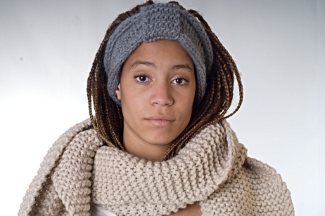 knitted headband and scarf