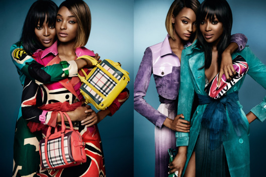 Naomi Campbell Jourdan Dunn for Burberry