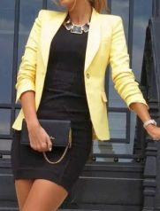 party blazer yellow