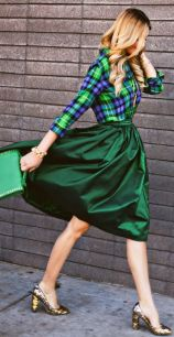 plaid and skirt