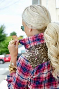 plaid sequins