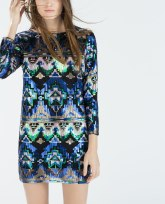 zara ethnic printed dress