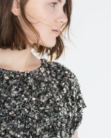 zara sequins blouse