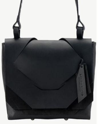 Black slashed bag