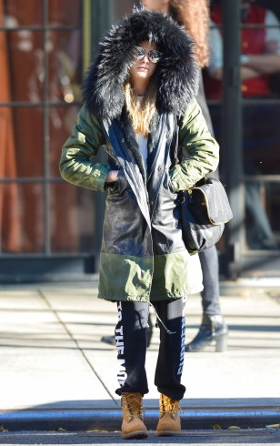 cara delevigne winter style