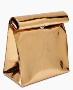 copper shiny bag