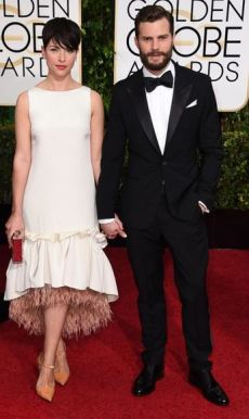 golden globes awards 2015 Amelia Warner and Jamie Dornan