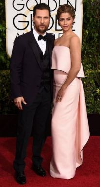 golden globes awards 2015 Matthew McConaughey and Camila Alves