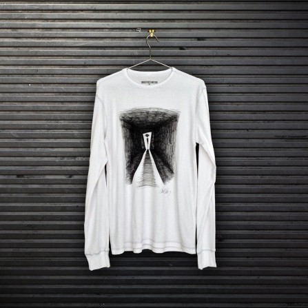 Paper and fabric t-shirt