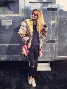 poppy delevingne colored coat