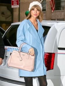 Taylor Swift blue coat