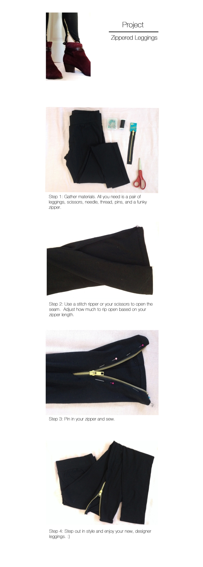 Zippered Leggings- Everyday facts
