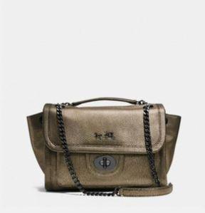 everydayfacts coach NY metallic bag