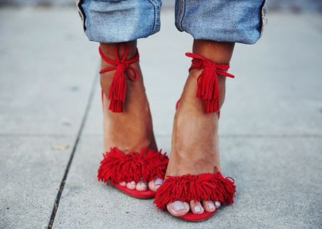 everydayfacts fringed sandals sincerely jules Aquazzura