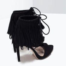 everydayfacts fringed sandals zara