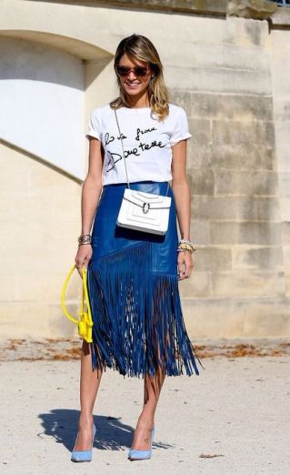 everydayfacts fringed skirt
