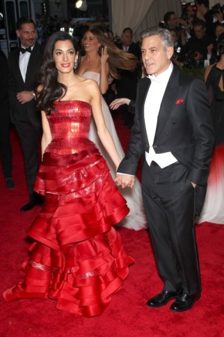 Met Gala 2015 Amal and George Clooney