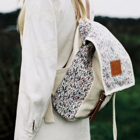 everydayfacts Splashes Globby Print Backpack